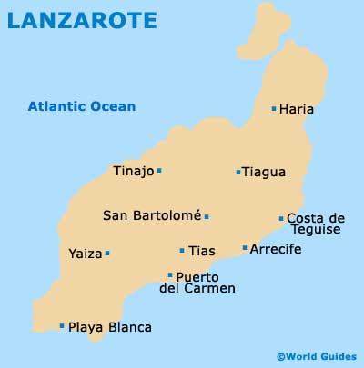 Lanzarote map
