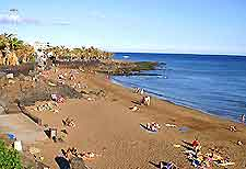 View of Lanzarote's Puerto del Carmen beaches
