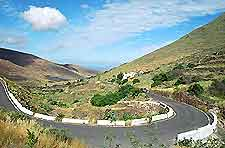Picture of the roads in Lanzarote