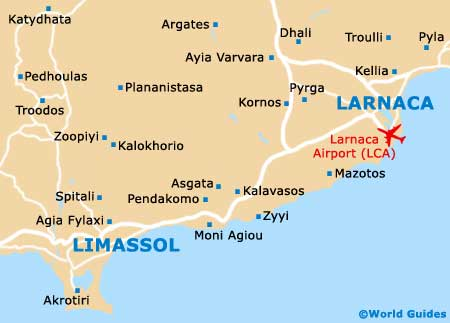 Map of Larnaca Airport LCA Orientation and Maps for LCA Larnaca