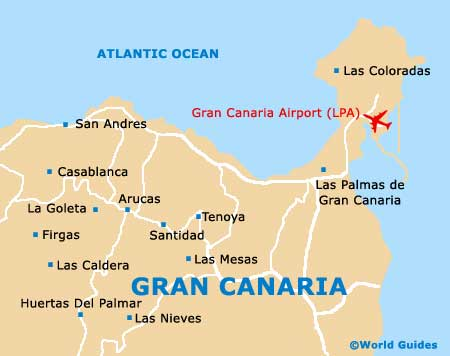 Maps of Las Palmas Las Palmas University of Gran Canaria Map of