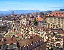 Lausanne aerial cityscape picture