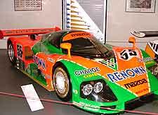 Picture of exhibits at the Musee Automobile de la Sarthe