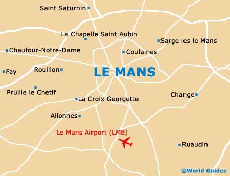 Le Mans map