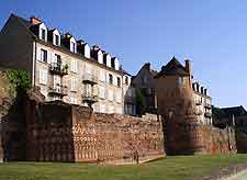 Photo showing the medieval Gallo Roman Walls