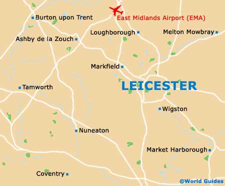 Leicester City Uk Map.Leicester Maps And Orientation Leicestershire England