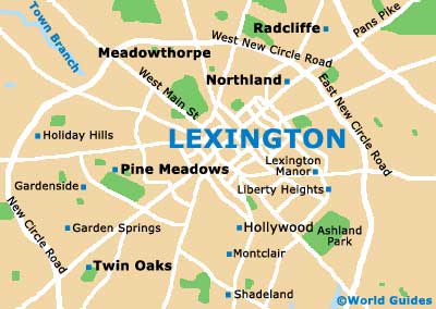 Lexington Maps and Orientation: Lexington, Kentucky - KY, USA