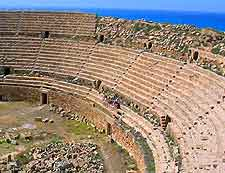 Leptis Magna Historic Site photo showing ancient amphitheatre