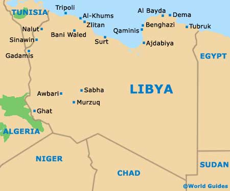 Libya Maps And Orientation Libya North Africa - Tunisia country political map
