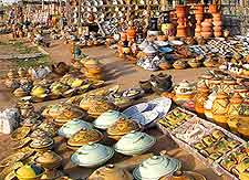 Photograph of traditional market in Tripoli