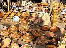 View of Tripoli market stalls