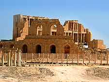 View of ancient theatre at Sabratha
