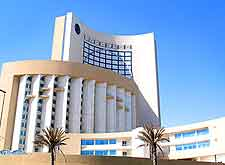 Image of modern hotel in downtown Tripoli