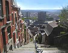 View from the top of the Mountain of Bueren (Montagne de Bueren)