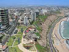Image of the nearby Lima coastline