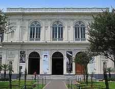Entrance view showing the Museo de Arte de Lima