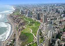 Aerial photograph of the Miraflores district