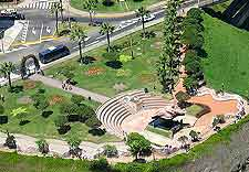 Aerial picture of local amphitheatre