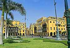 Lima photo showing the colourful Plaza de Armas