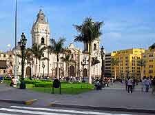 View of the Plaza de Armas buildings