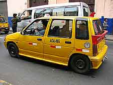 Picture of local yellow taxi cab