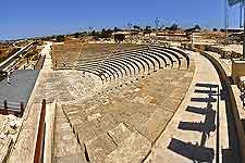 Photograph of well-preserved amphitheatre at the nearby site of Ancient Kourion