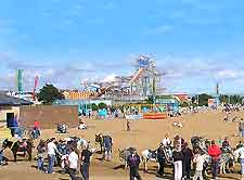 Picture of the sandy beach at Skegness
