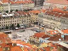 Aerial view of Lisbon city centre