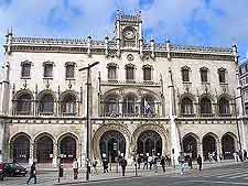 Lisbon Airport (LIS) Airlines and Terminals: Picture of the city's Rossio Train Station