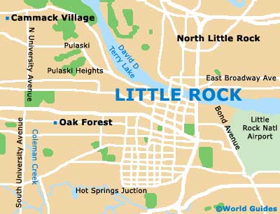 Small Little Rock Map