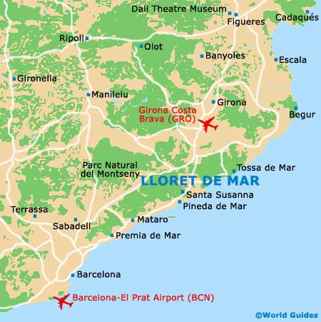 Lloret de Mar Maps and Orientation Lloret de Mar Catalonia Spain