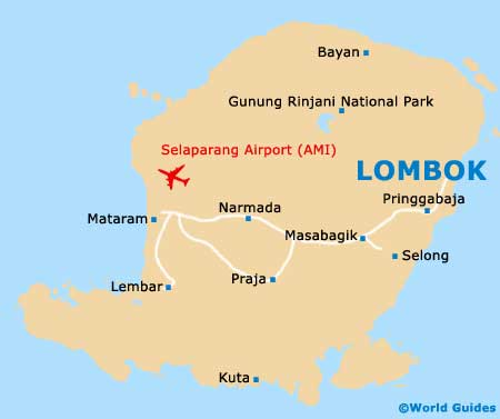 Lombok Hotels Map Small Lombok Map Hotel Search