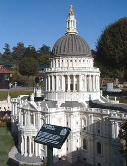 View of Saint Paul's Cathedral in Legoland's Miniland