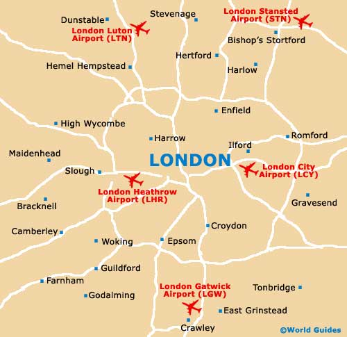 Map Of London Stansted Airport Stn Orientation And Maps For Stn