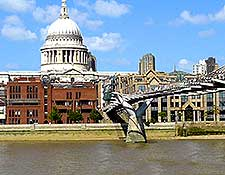 Picture showing St. Paul's Cathedral and the London Millennium Footbridge