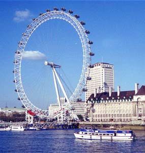 Image of the London Eye on the South Bank