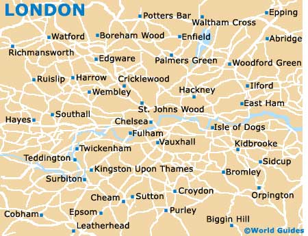 London Map Districts.London Maps And Orientation Greater London England