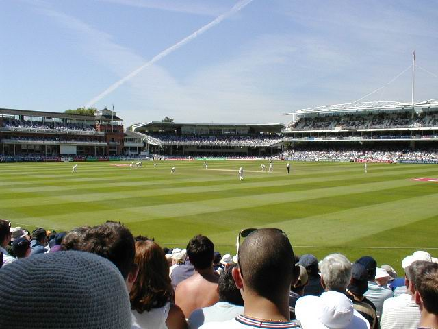 View from the spectators at Lord's Cricket Ground