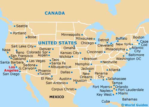 Los Angeles Us Map Indiana Map Los Angeles Maps California US - Indiana on map of usa