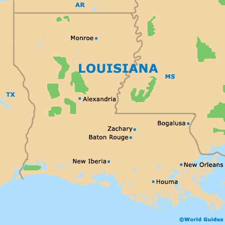 Louisiana LA State map
