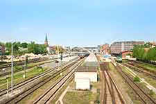 View along the city's railway line