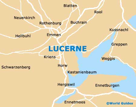 Lucerne Maps and Orientation Lucerne Switzerland