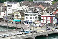 Photo of road across the Limmat River