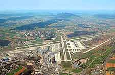 Aerial view of the Zurich International Airport (ZRH)