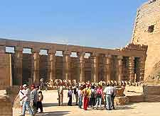 Picture showing visitors at the Temple of Karnak