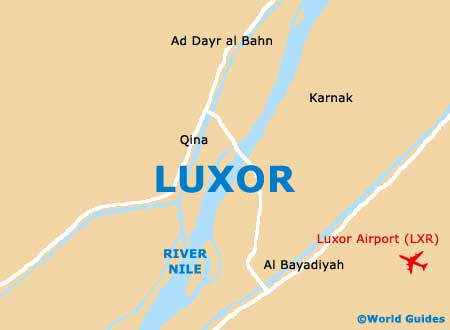Map of Luxor