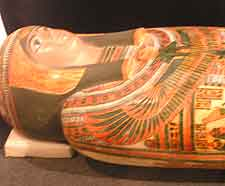 Picture of sarcophagus at the Luxor Museum