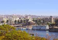 View of riverfront in Aswan