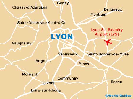 Map Of Lyon Saint Exupery Airport Lys Orientation And Maps For