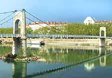 Lyon Airport (LYS) Travel and Transport: Picture showing bridge crossing the Rhone